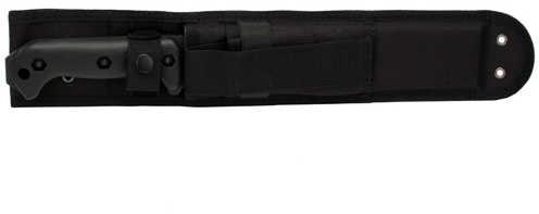 "KABAR Becker Combat Bowie Fixed Blade Knife 1095 Cro-Van/Black Plain Clip Point Codura Sheath 9"" Carbine Black Grivory B"