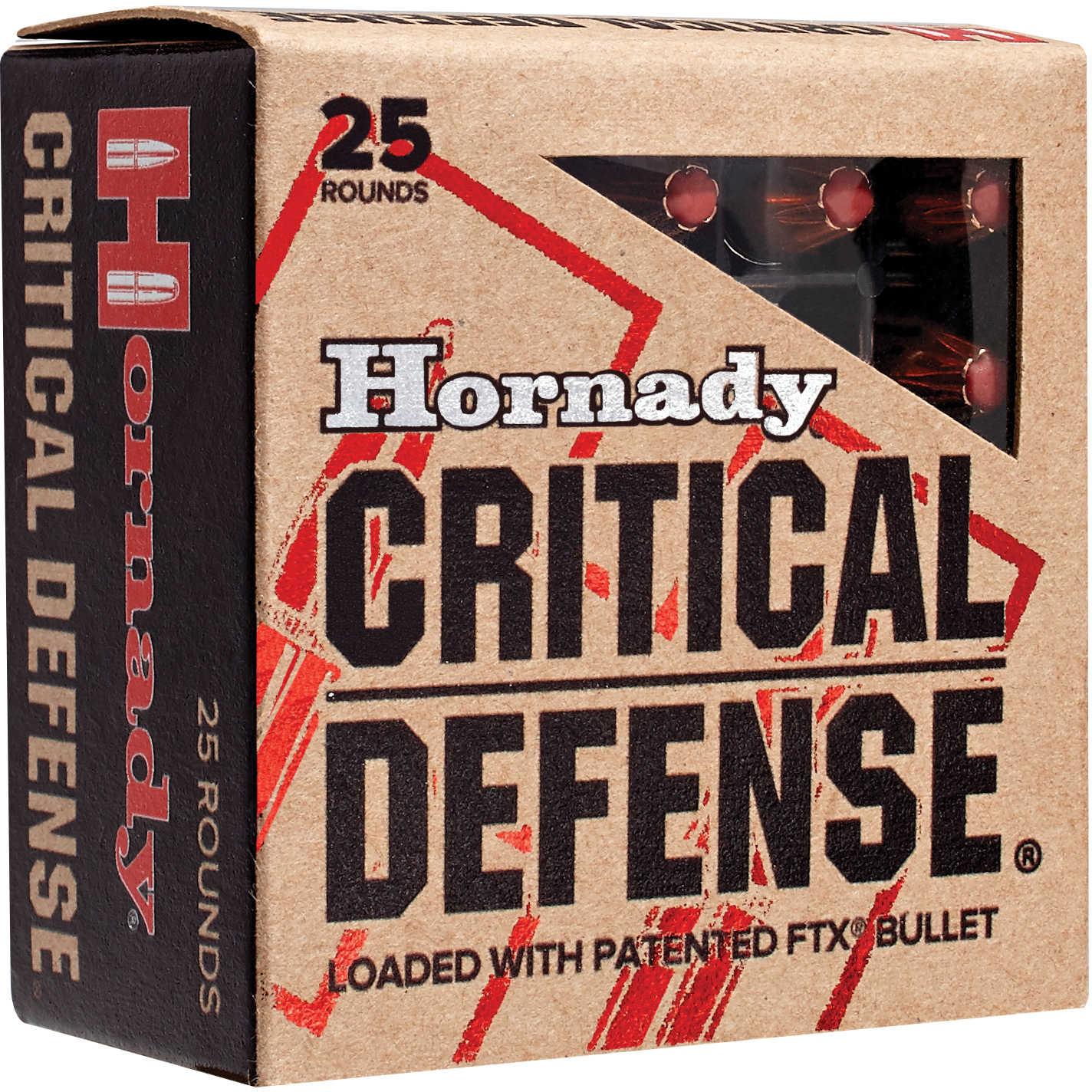 Hornady Critical Defense 9mm Luger 115 Grain FTX (Per 25) 90250