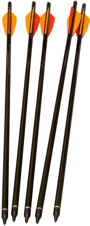 "Barnett Crossbow Arrows 20"", Carbon, Per 5, Half-Moon Nock 16075"