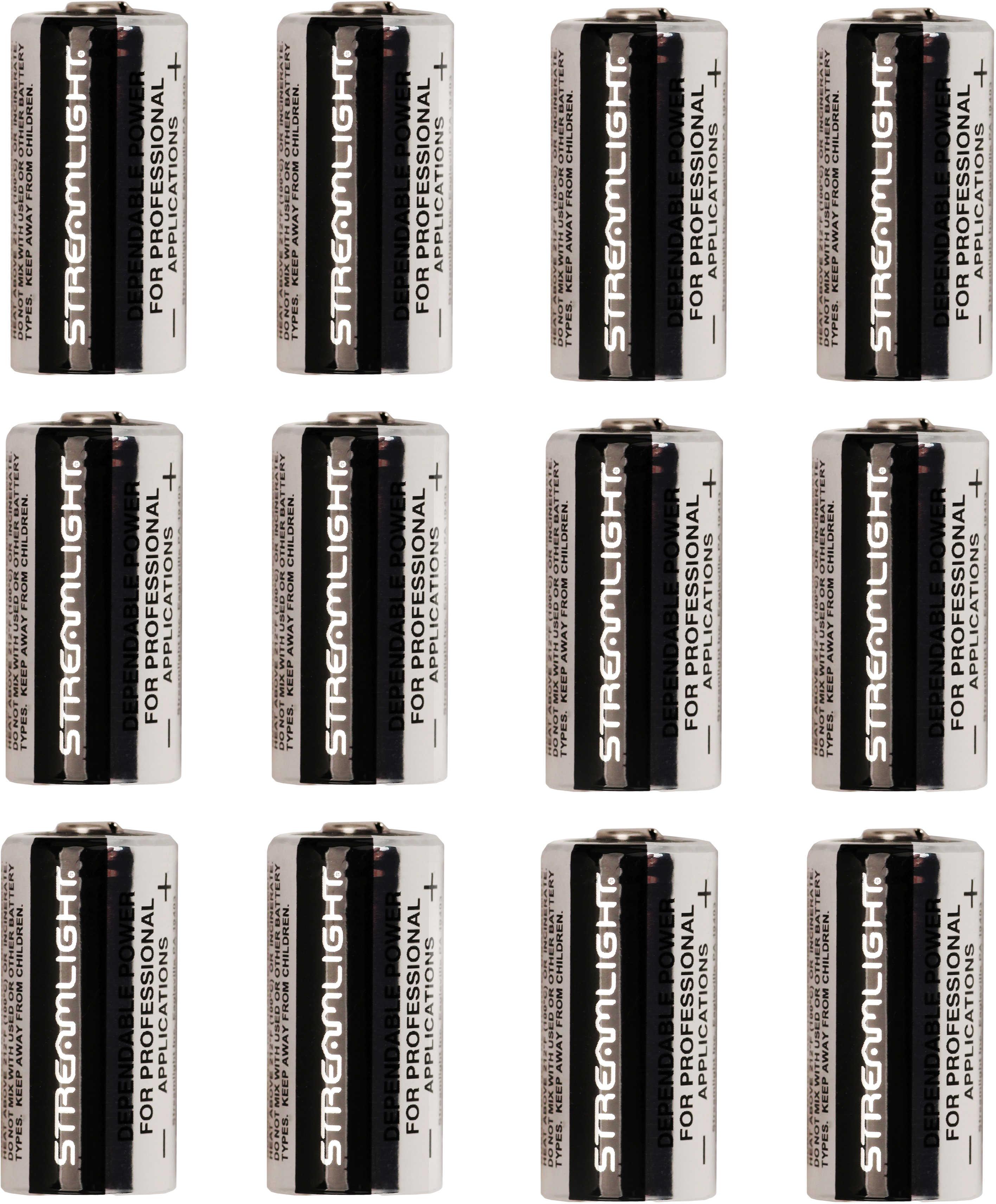 Streamlight 3V Lithium CR123 Battery 12 Pack 85177