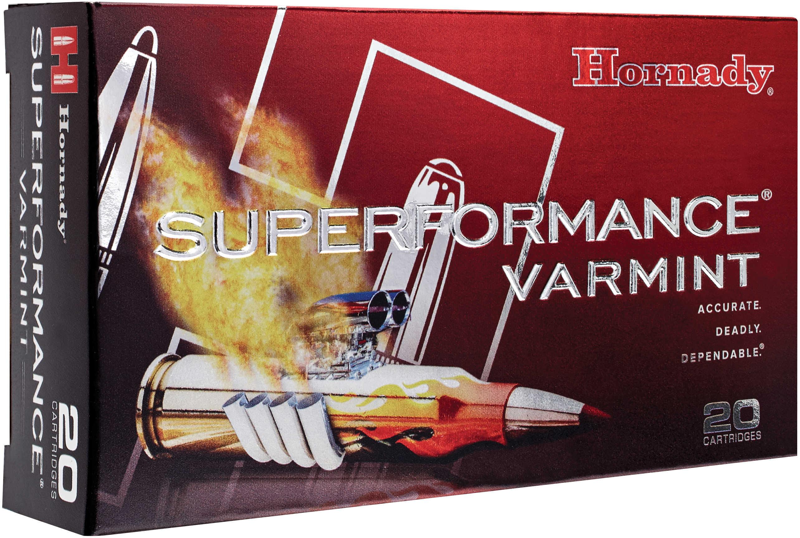 Hornady 222 Remington Ammunition Superformance Varmint, 35 Gr, NTX/20 8309