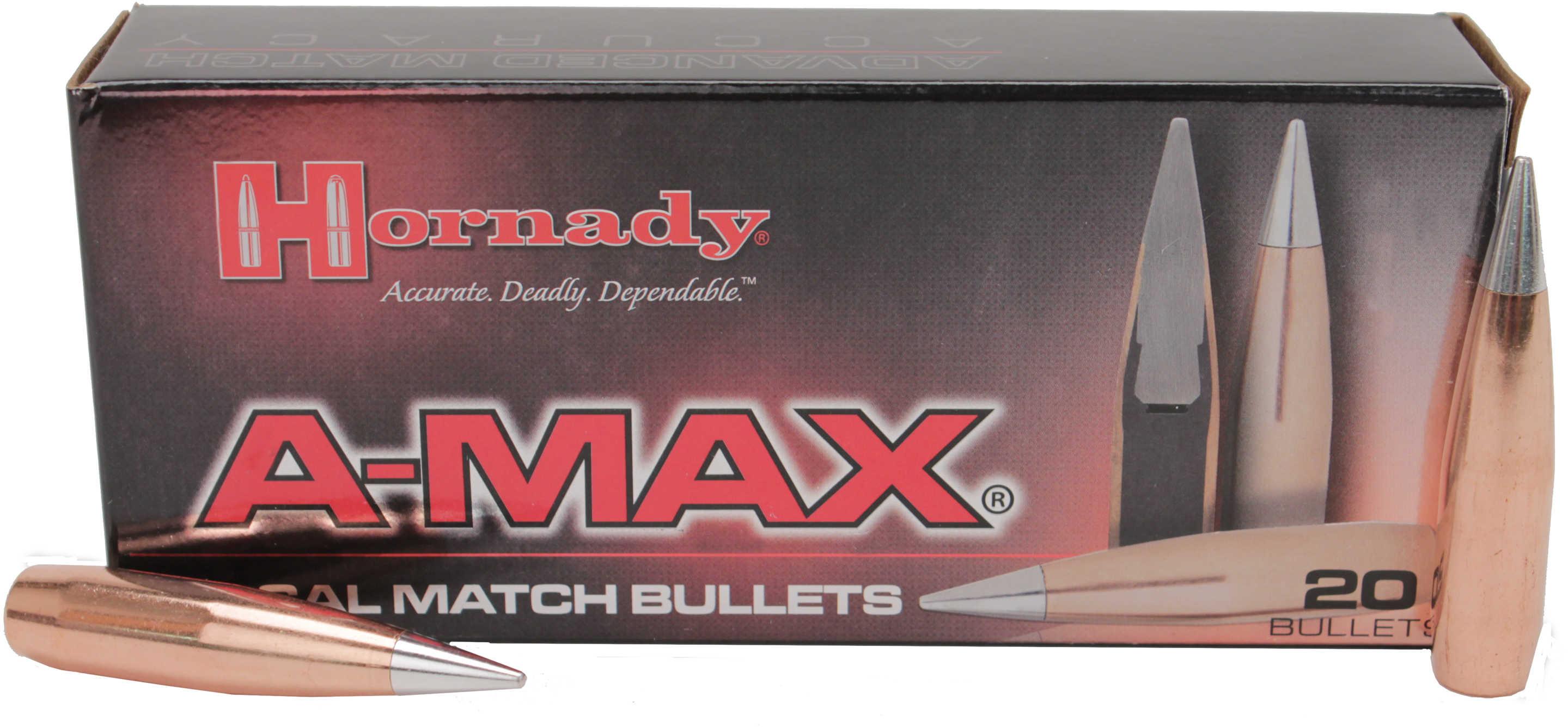 Hornady 50 Caliber Bullets 750 Grains A-Max (Per 20) 5165