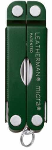Leatherman Micra Multi-Tool Green Aluminum Handle, Boxed 64350101K
