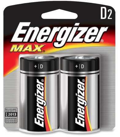 Energizer Max Batteries D 2Pk
