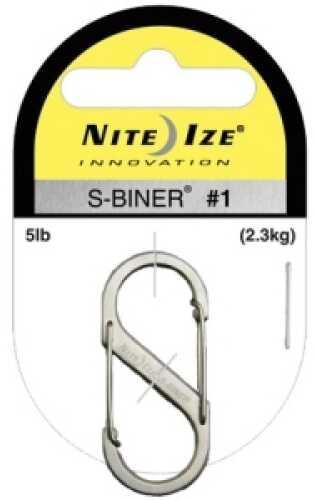 Nite Ize S-Biner Size #1 Black (Per 2) SB1-2PK-01
