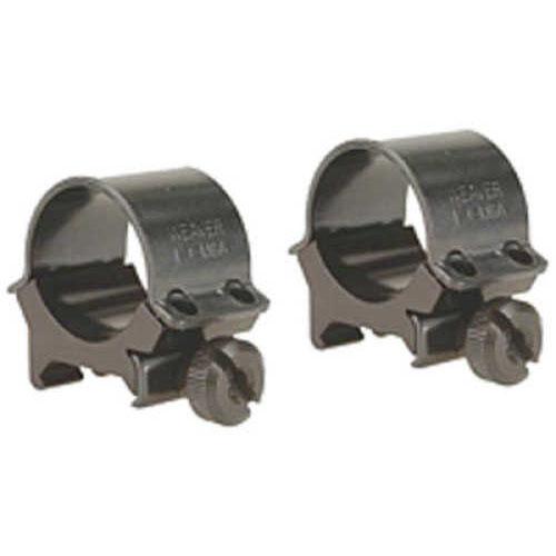 """Weaver Sure Grip Detachable Rings 1"""" - Medium - Black Four screw system - Steel caps - Aluminum saddle - Qu 49160"""