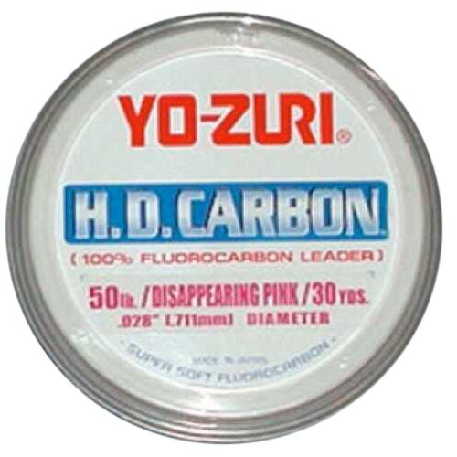 Yo-Zuri America Yozuri HD Fluorocarbon Leader 30yd 100lb Disappearing Pink Md#: HD100LBDP