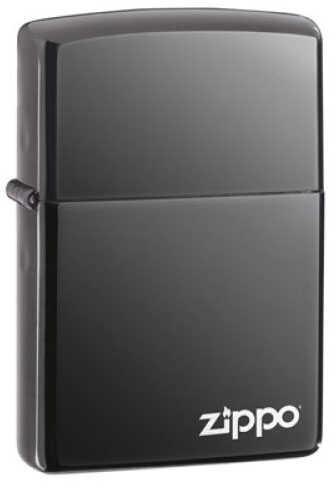 Zippo Pocket Lighter - Black Ice with Logo Lifetime guarantee - Excellent craftsmanship - Windproof design 150ZL