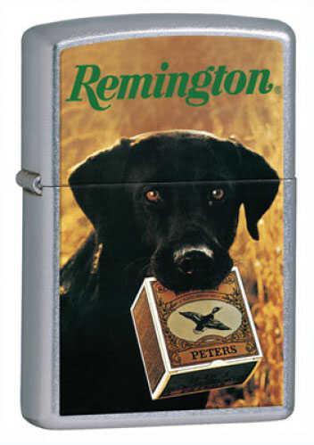 Zippo Pocket Lighter - Remington Dog Lifetime guarantee - Excellent craftsmanship - Windproof design - Unf 24817