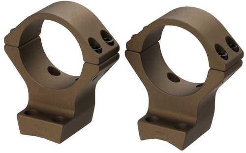 "Browning X-Bolt Scope Rings 2 Piece 1"" Standard Height / Low Height Aluminum Burnt Bronze Cerakote"