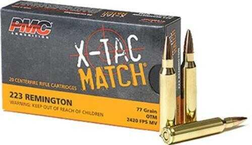PMC Ammunition .223 Remington 77 Grain OTM Sierra Bullet 20-Pack