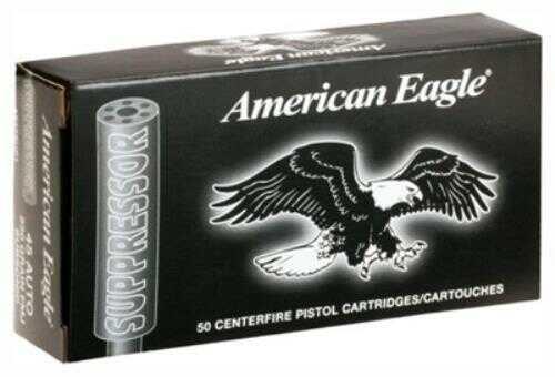 Federal American Eagle Suppressor Ammunition 22LR 45 Grain Copper Plated Lead Round Nose 50 Round Box AE22SUP1