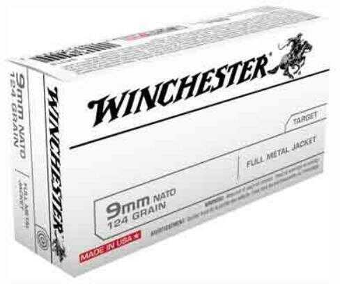 Winchester Ammunition Nato 9MM Luger 124 Grain FMJ-RN 50-Pack