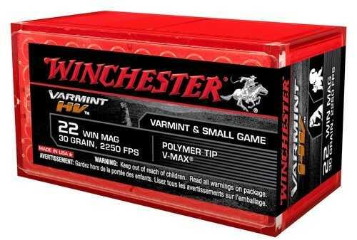 Winchester 22 Winchester Magnum 30 Gr, V-Max Varmint HV/50 S22M2PT
