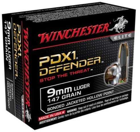 Winchester 9mm Luger 9mm Luger 147gr PDX1 /20 S9MMPDB1