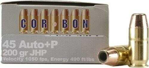 Corbon Ammunition   45 ACP +P 185 Grain JHP 20-Pack