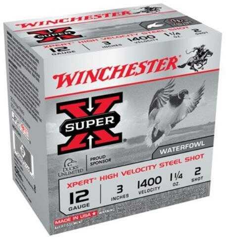 """Winchester XPERT HV Steel 12Ga 3"""" 1.25Oz #2 25 Rds Ammunition WEX123H2"""