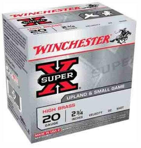 """Winchester Ammunition Super-X 20 Gauge 2.75"""" 1220Fps. 1Oz. #6 25-Pack"""