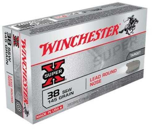 Winchester 38 Smith & Wesson, 145 gr, Lead RN, (Per 50) X38SWP