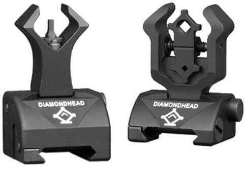 Diamondhead Combat Sight Set W/AR15 Gas Block Front Black