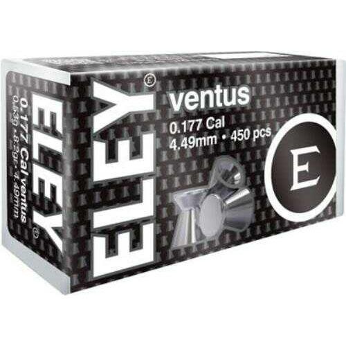 ELEY VENTUS Pellets .177 4.49MM 8.2 GRAINS 450-Pack