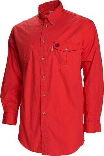 Beretta Shooting Shirt X-Large Long Sleeve Cotton Red