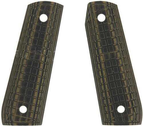 Pachmayr Dominator G10 Grips Ruger 22/45 Grn/Black Grappler