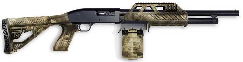 "Adaptive Tactical Maverick 88 Pump 12 Gauge 18.5"" Barrel 2.75"" 10+1 Rounds Black 00323"