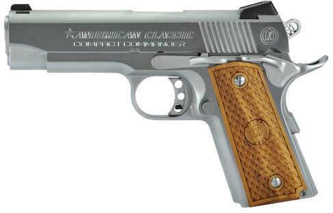 """American Classic 1911 Compact Commander 45 ACP 4.3"""" Barrel 7 Round Hard Chrome Finish Semi Automatic Pistol ACCC45C"""