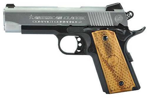 "American Classic 1911 Compact Commander 45 ACP 4.3"" Barrel 7 Round Hardwood Grip Two-Tone Semi Automatic Pistol ACCC45DT"