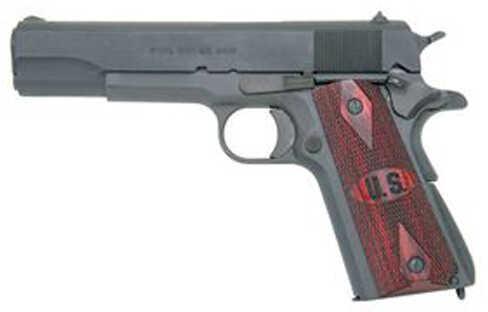 "Auto-Ordnance 1911A1 45 ACP 5"" Barrel 7 Round Parkerized Pistol Wood Grips MA Approved 1911PKZSEMA"