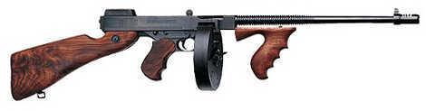 "Auto Ordnance Thompson 1927A-1 Deluxe 45 ACP 16.5"" Barrel 30/50 Round Walnut Stock Blemished Semi Automatic Rifle ZT150D"