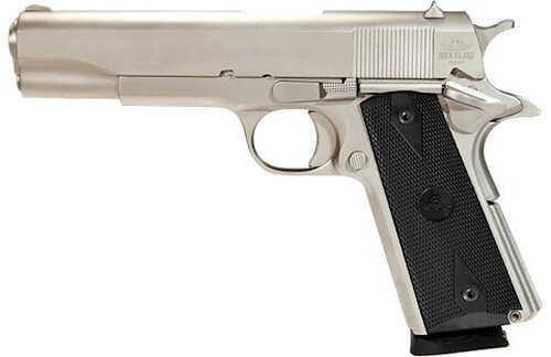 "Rock Island Armory Standard GI 1911 45 ACP 5"" Barrel 8 Round Matte Nickel Semi Automatic Pistol 51439"