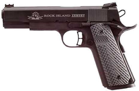 "Rock Island 1911-A1 Tactical II Pistol The Rock Ultra 10mm 5"" Barrel 8 Round Parkerized G10 VZ Grip Fiber Optic Front Sight Md: 51991"