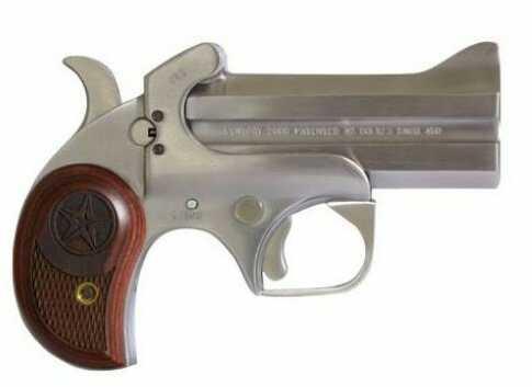 "Bond Arms Century 2000 Derringer 357 Magnum/38 Special 3.5"" Barrel 2 Rounds Stainless Steel Wood Handgun BAC2K35738"