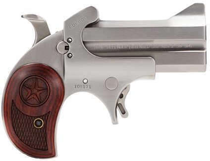 "Bond Arms Texas Defender 22 MAG 3"" Barrel 2 Round Laminate Rosewood Grip Satin Stainless Steel Derringer Pistol BATD22"
