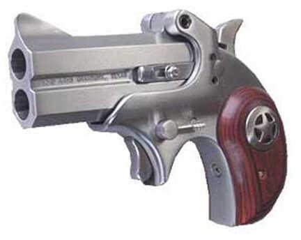 "Bond Arms Cowboy Defender 45 ACP 3"" Barrel 2 Round Stainless Steel Rosewood Grip No Trigger Guard Derringer Pistol CD45ACP"