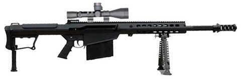 "Barrett Firearms Barrett Model 107A1 50 BMG 29"" Fluted Barrel 10 Round Leupold Mark 4 M1 Scope Semi Automatic Rifle 14018"