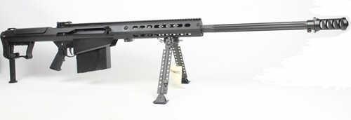 """Barrett Firearms Barrett Model 107A1 50 BMG 29"""" Barrel 10 Round Black Semi Automatic Rifle 14085"""