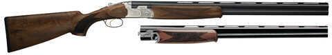"Beretta 686 Silver Pigeon I Combo 28/410 Gauge Shotgun 3"" and 2.75"" Chambers 28"" Barrels Blued Over/Under Shotgun J6863R8"