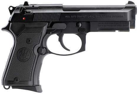 "Beretta 92FS Compact 9mm Luger 4.25"" Barrel 10 Round Black Semi Automatic Pistol J90C9F11"