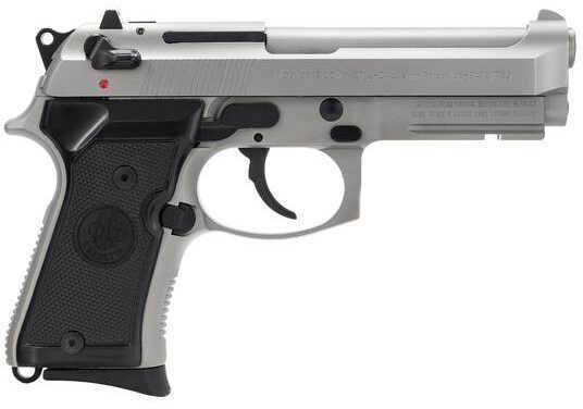 "Beretta 92 FS Inox Compact Semi-Auto Pistol 9mm Luger 4.25"" Barrel 10+1 Rounds Black Stainless Steel J90C9F21"