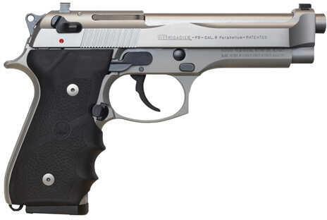 """Beretta 92FS Brigadier Inox 9mm Luger 4.9"""" Barrel 15 Round Stainless Steel Semi Automatic Pistol J92F560M"""