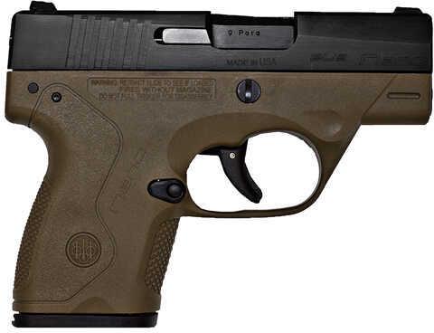 "Beretta Nano 9mm Luger 3.07"" Barrel 6 Round Flat Dark Earth Semi Automatic Pistol JMN9S55"