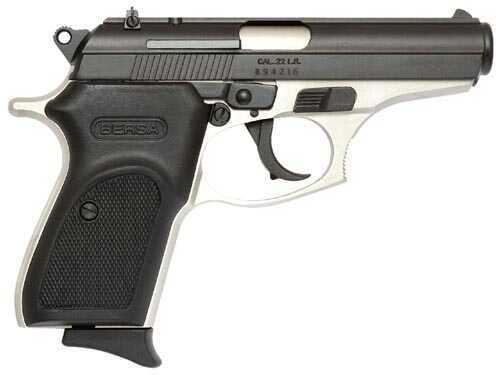 "Bersa Thunder 22 Long Rifle 3.5"" Barrel 10 Round Nickel/Black Semi Automatic Pistol T22DT"