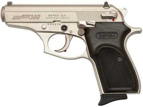 "Bersa Thunder 380 ACP 3.5"" Barrel 7 Round Nickel Semi Automatic Pistol THUN380NKLT"