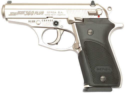 "Bersa Thunder Plus 380 ACP 3.5"" Barrel 15 Round Nickel Semi Automatic Pistol      THUN380PNKL15"