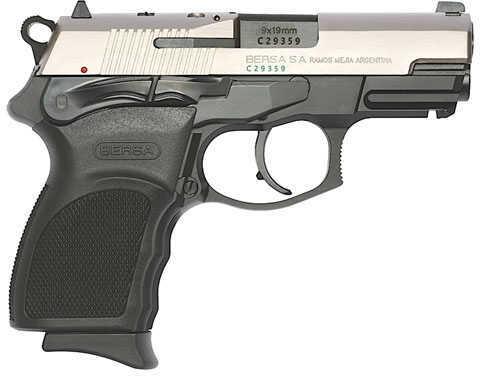 "Bersa Thunder Pro Ultra Compact 9mm Luger 3.25"" Barrel 13 Round Polymer Grip Black Nickel Semi Automatic Pistol T9DTP13"