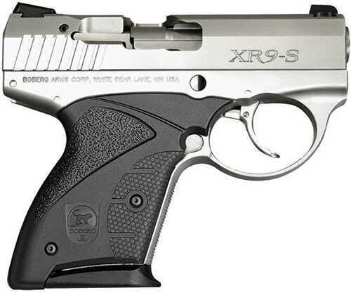 "Boberg Arms Corporation Boberg SBKG1 Platinum 9mm Luger 3.35"" Barrel 7 Round Double Action Only Black Zytel Grip Nickel/Chrome Semi Automatic Pistol 1XR9S75SVFSV"
