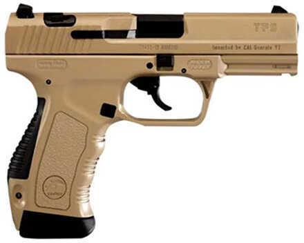 "Century Arms CaNikon TP-9 9mm Luger 4"" Barrel 18 Round Capacity Desert Tan Pistol HG2846DN"